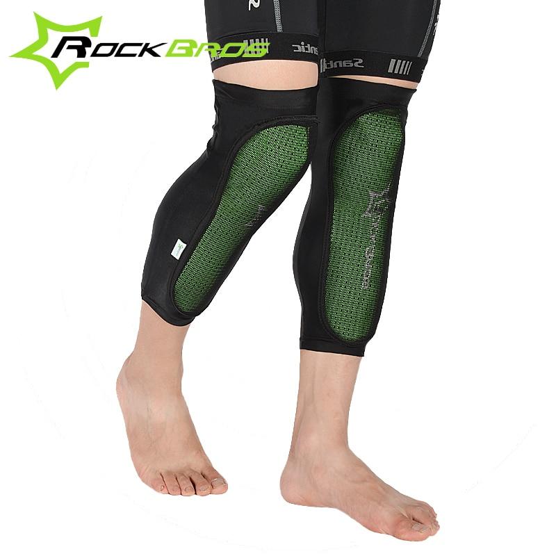 RockBros verde Protector de la rodilla almohadillas de deporte al aire libre Ciclismo en la rodilla de bicicleta de montaña anticolisión almohadillas para pantorrilla