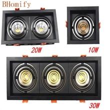 Led COB Downlight 10w 20W 30w Dimmbare AC85-265V AC220v AC110v Einbau Led Lampe panel Decke Spot licht innen beleuchtung