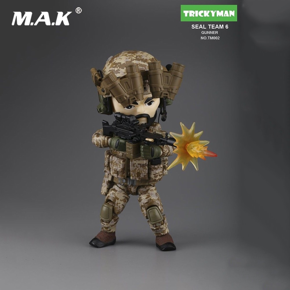 """Collectible 13 cm Mini 5 """"Figura de Ação Militar TRICKYMAN Seal Team 6 Série Artilheiro TM002 Modelo Brinquedos para Os Fãs presentes de feriado"""