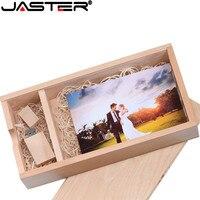 (1 PCS Free LOGO) Photo Unique Album walnut Wood USB+Box Pendrive USB flash drive 8GB 16GB Photography (120*250*50 mm)