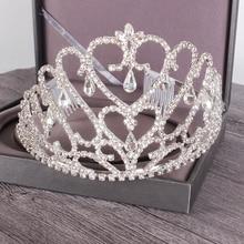 Nueva Barroca con diamantes de imitación para boda, corona grande brillante de princesa, Tiara de lujo para novia, Reina, boda, baile, accesorios para el cabello