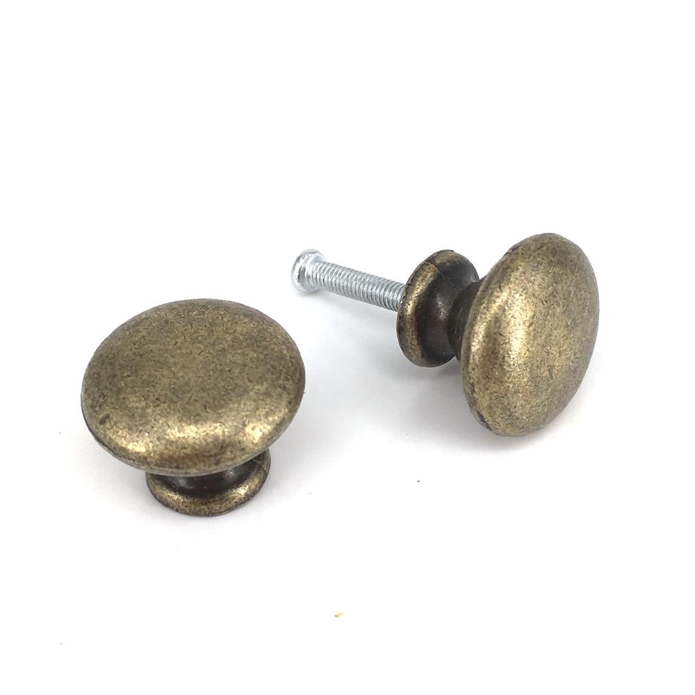 25*20mm Classical Round Pull Handle Cabinet Drawer Retro Door Knob Antique Bronze