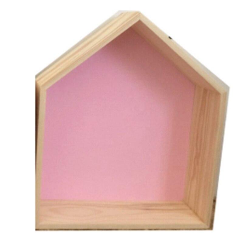 Ins estilo nórdico multifuncional rack de armazenamento parede prateleiras de madeira quarto das crianças casa de madeira prateleiras de madeira artesanato decoração