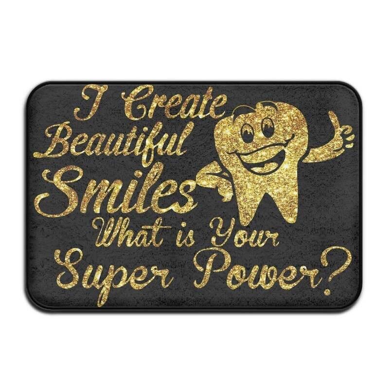 أنا خلق جميلة الابتسامات طبيب الأسنان ممرضة غير زلة ممسحة مدخل حصيرة الكلمة حصيرة البساط الترابية الصياد الحصير