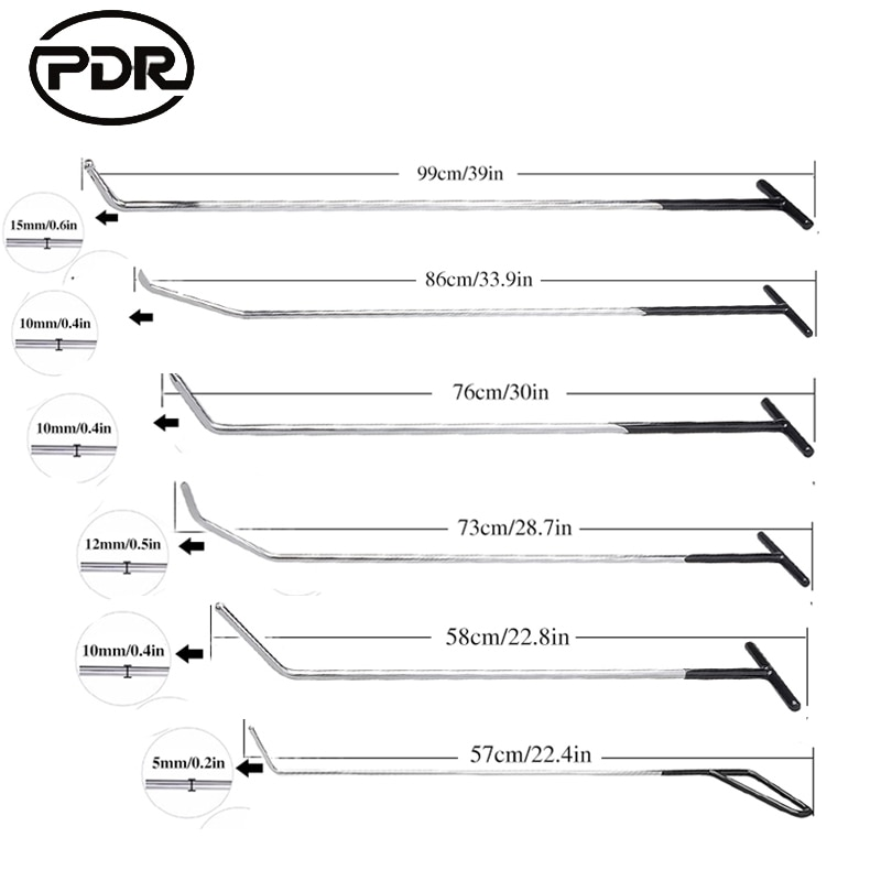 Super república democrática gancho herramientas empuje barras Dent herramientas de eliminación de alquiler de herramientas de reparación de abolladuras Kit de reparación de carrocería/TNT/envío gratuito con DHL envío