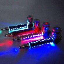 Flash LED Luce Colorfull metallo Tabacco da Pipa Tubo di Fumo Rilevatori di Fumo Grinder Fumo di Narguile Supporto di Sigaretta