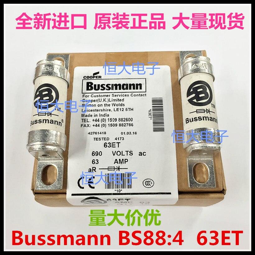 Fusible cerámico fundido BUSSMANN BS88: 4, fusible HRC 63ET 63A 690V