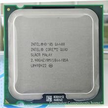 intel core 2 Q6600 CPU Processor (2.4Ghz/ 8M /1066GHz) Socket LGA 775 Desktop CPU free shipping