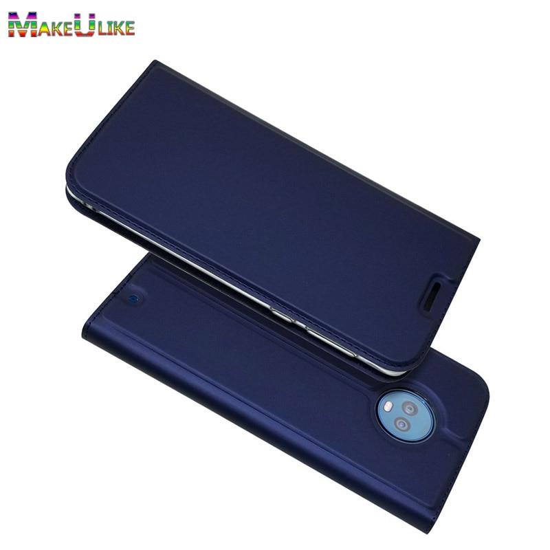 Funda magnética delgado para Motorola Moto G6 Plus, funda con Tapa de cuero PU, fundas para teléfono, fundas para Moto G6 G6Plus, Coque
