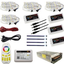 Bande lumineuse étanche à 60LED avec télécommande RF, wi-fi, 5/10/15/20M, DC 12V, rvb/ww, 5050