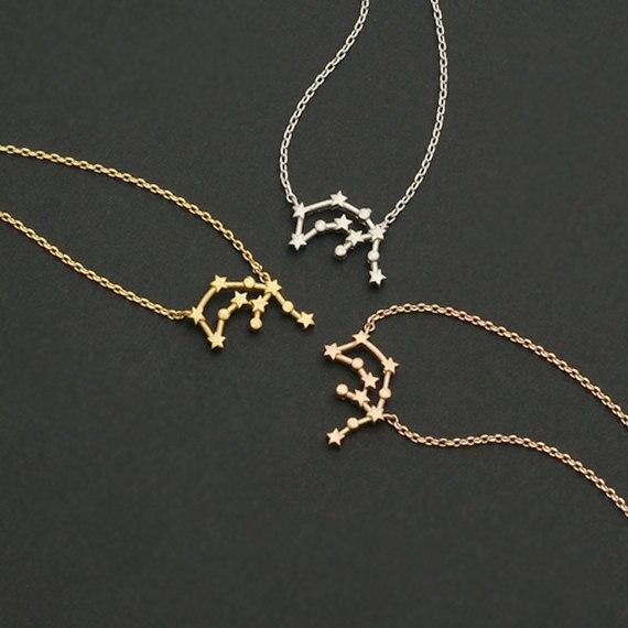 Daisies 1 sztuk moda biżuteria wodnik zodiaku konstelacji wisiorek naszyjnik prosta konstrukcja dla kobiet Collier