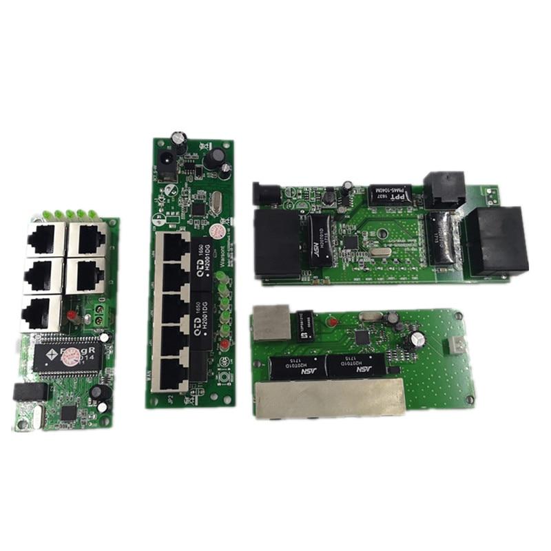 Calidad del OEM mini placa base precio 5 interruptor de puerto para empresa fabricante PCB Junta 5 puertos de red ethernet de módulo
