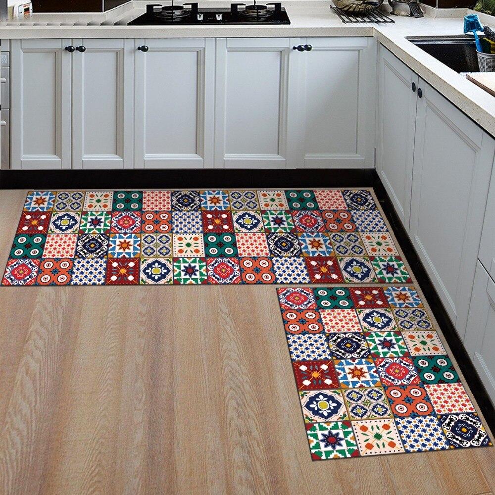 LYN&GY Slip-resistant Washable Entrance Doormat Floor Mat Kitchen Long Carpet Corridor Rug Front Door Entry Funny Mats