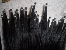 1 Hank haute qualité queue de cheval cheveux arc cheveux 7 grammes noir cheval cheveux 82 cm de longueur