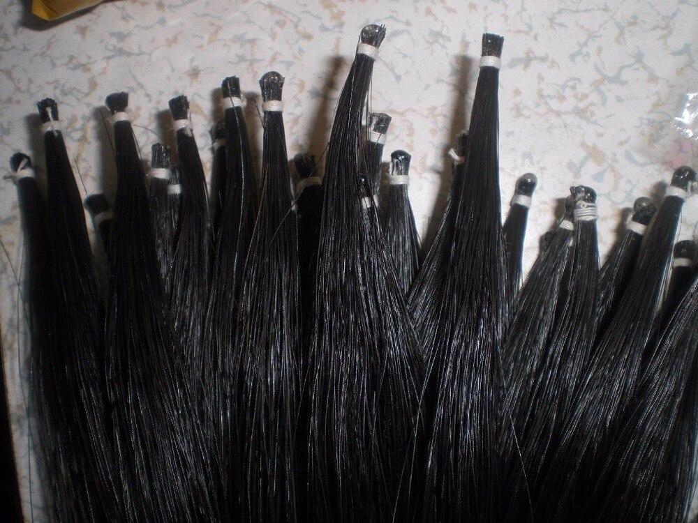 1 madeja pelo de cola de caballo de alta calidad arco 7 gramos pelo de caballo negro 82 cm de longitud