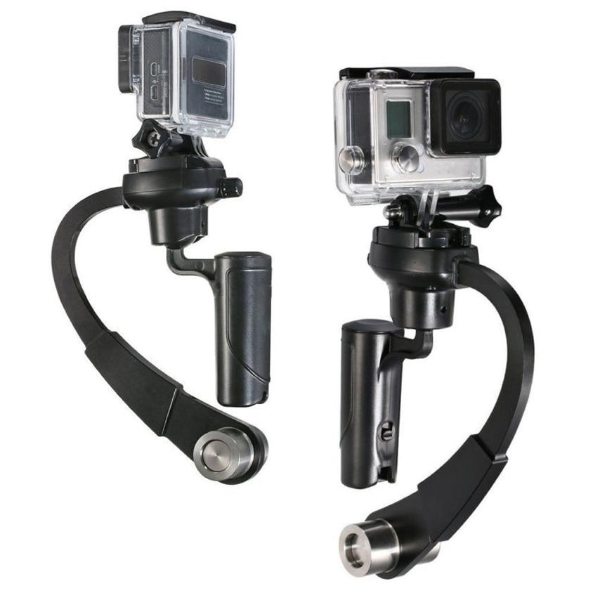 Nuevo Mini estabilizador de cámara Digital de mano Video Steadicam c-curvo Gimbal para GoPro 1 2 3 3 + 4 para Xiaomi Yi estabilizadores de cámara