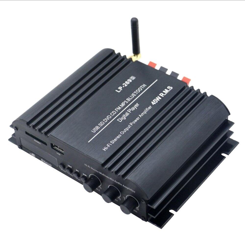Lepy LP-269 S HiFi Bluetooth coche amplificador de potencia 2 canales estéreo reproductor de música soporte de Audio SD USB FM enchufe de la UE