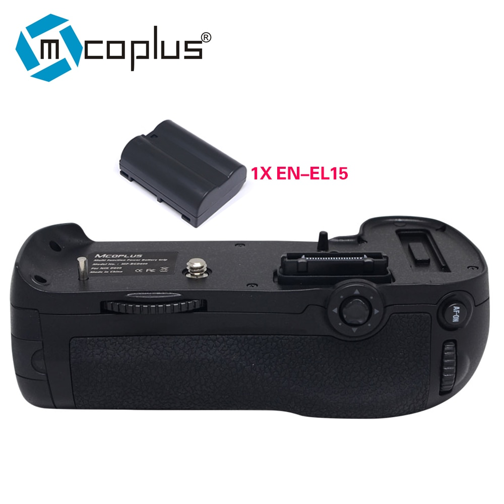 Mcoplus Venidice VD-D800 Empuñadura de batería vertical con 1 Uds. Batería de EN-EL15 para cámara Nikon DSLR D800 D800E MB-D12 como MK-D800