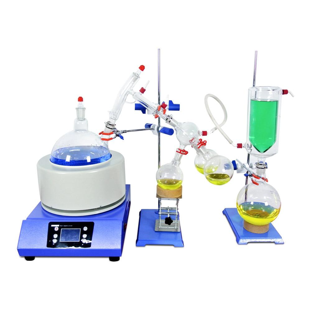 Lab Small Short Path Distillation Equipment 2L Short Path Distillation With Stirring Heating Mantle Include Cold trap