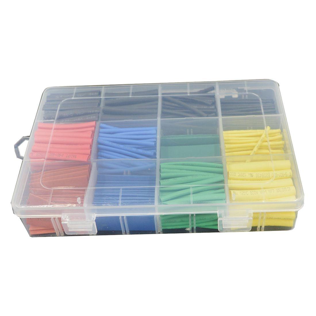 Mejor Precio 530 Uds. 21 manguito de tubo retráctil manguito de calor Cable de envoltura 5 colores 8 tamaños