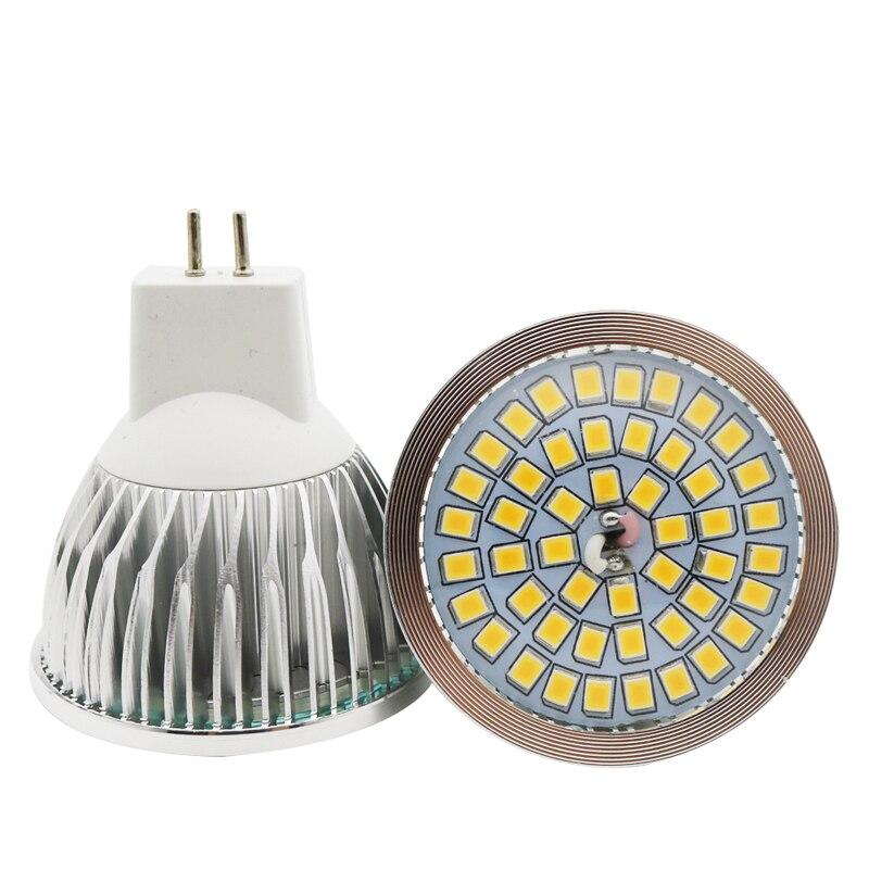 1x100% garantía de calidad MR16 10W SMD 2835 48 bombilla LED blanco cálido blanco AC 12V foco LED de aluminio