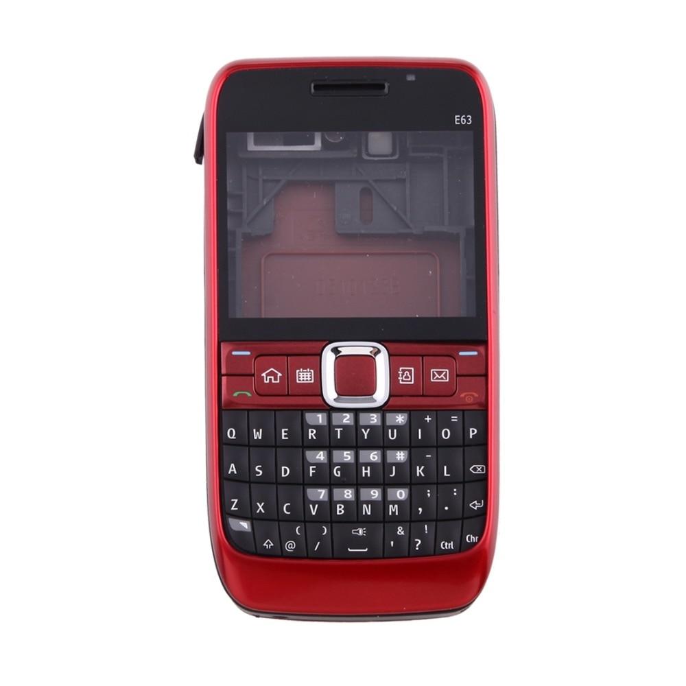 Full Housing Cover (Front Cover + Middle Frame Bezel + Battery Back Cover + Keyboard) for Nokia E63 enlarge
