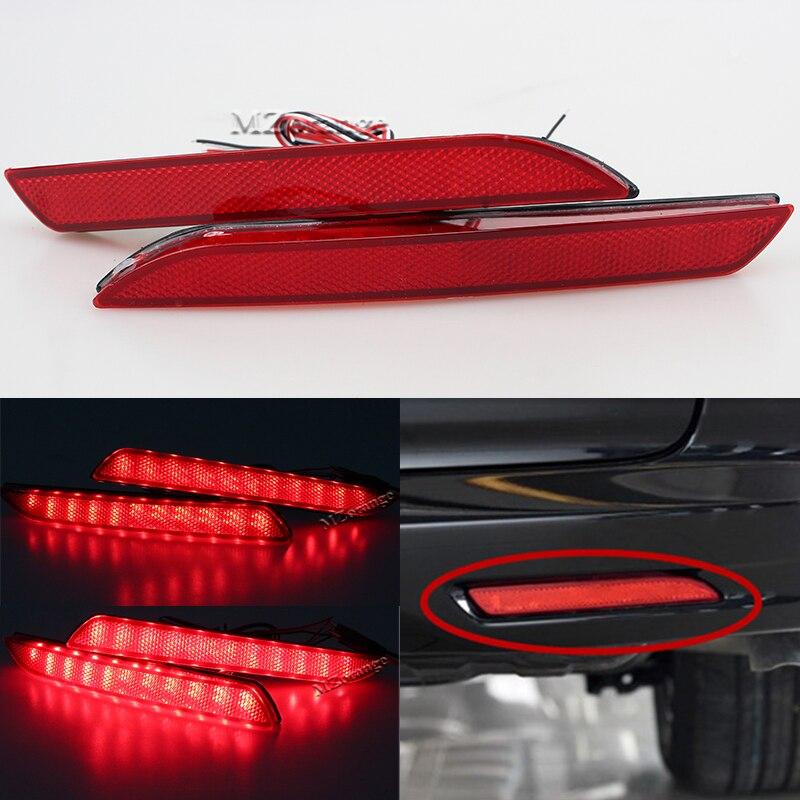 miziauto 1pcs inner rear tail light for honda for accord 2003 2004 2005 cm4 cm5 cm6 34156 sda h01 34151 sda h01 brake light MIZIAUTO 2 PCS Red Rear Bumper Reflector Light For Honda JAZZ Fit 2010-2013 CRZ CRV Acura TSX Lamp LED Tail Stop Fog Brake Light
