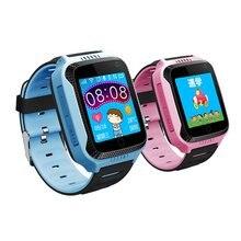 Q529 montre intelligente GPS localisation Tracker écran tactile enfants montre-bracelet avec lampe de poche caméra SOS appel téléphonique soutien russe/anglais