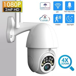 1080P 4X Zoom IP Camera WIFI Smart Home Security Monitor Full-Color Night Vision Waterproof Automatic Track Outdoor Speed Dome
