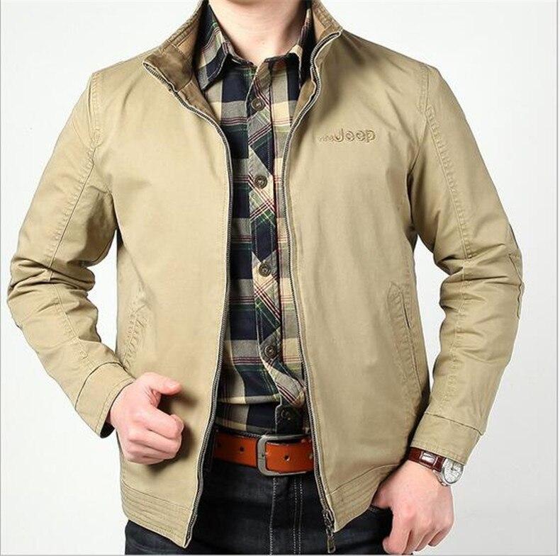 Nueva chaqueta para hombre talla grande 3XL de algodón suelto militar para hombre nueva primavera 2017 para hombre Abrigos casuales chaquetas militares cálidas