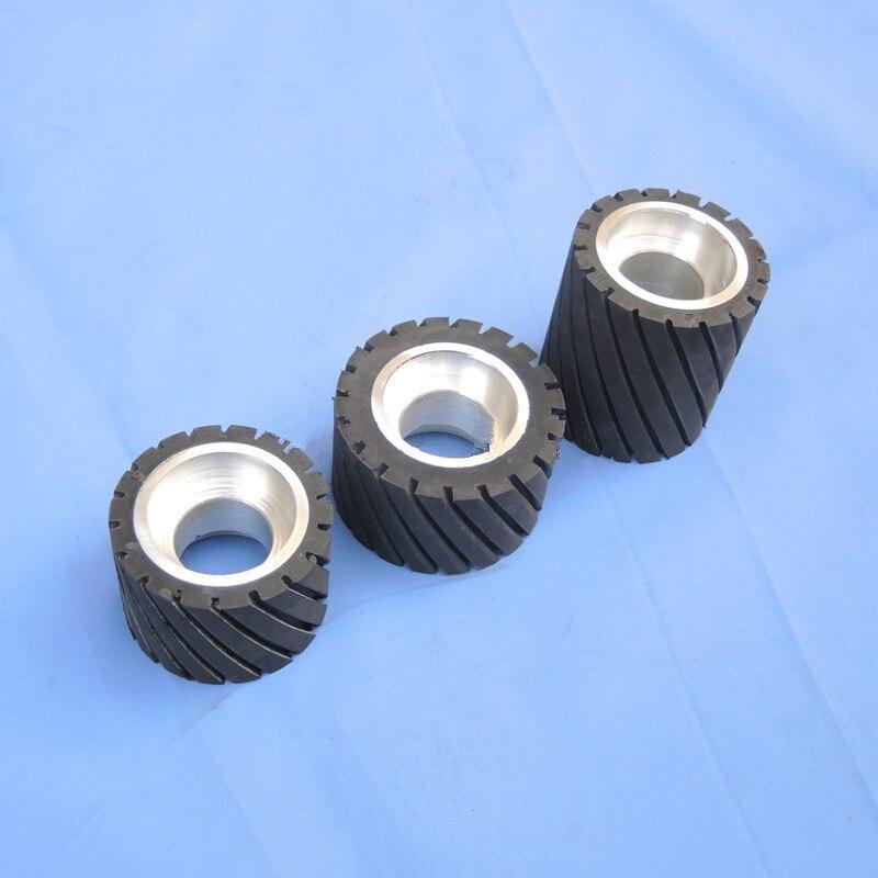 Sanding Belt iron Wheel with shaft for Sander Polisher machine Iron caster polishing wheel anti-running wheel