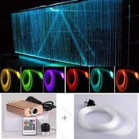 rgb color twinkle fiber optic waterfall light curtain