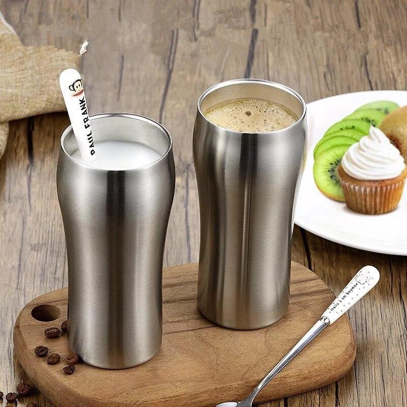Criativo stemless vácuo isolado copo de aço inoxidável café vinho cerveja caneca leite thermo panelas viagem carro copos bebendo canecas
