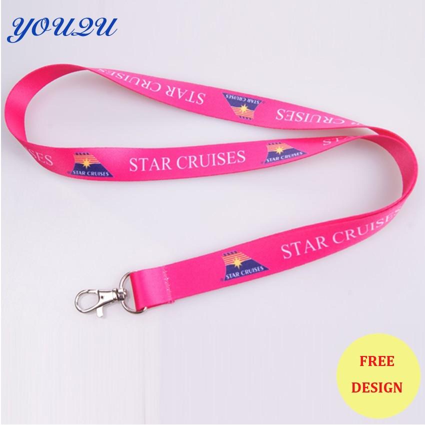 Fashion lanyards for keys badge holder necklace custom key chain lanyards key strap id holder necklace escrow accept