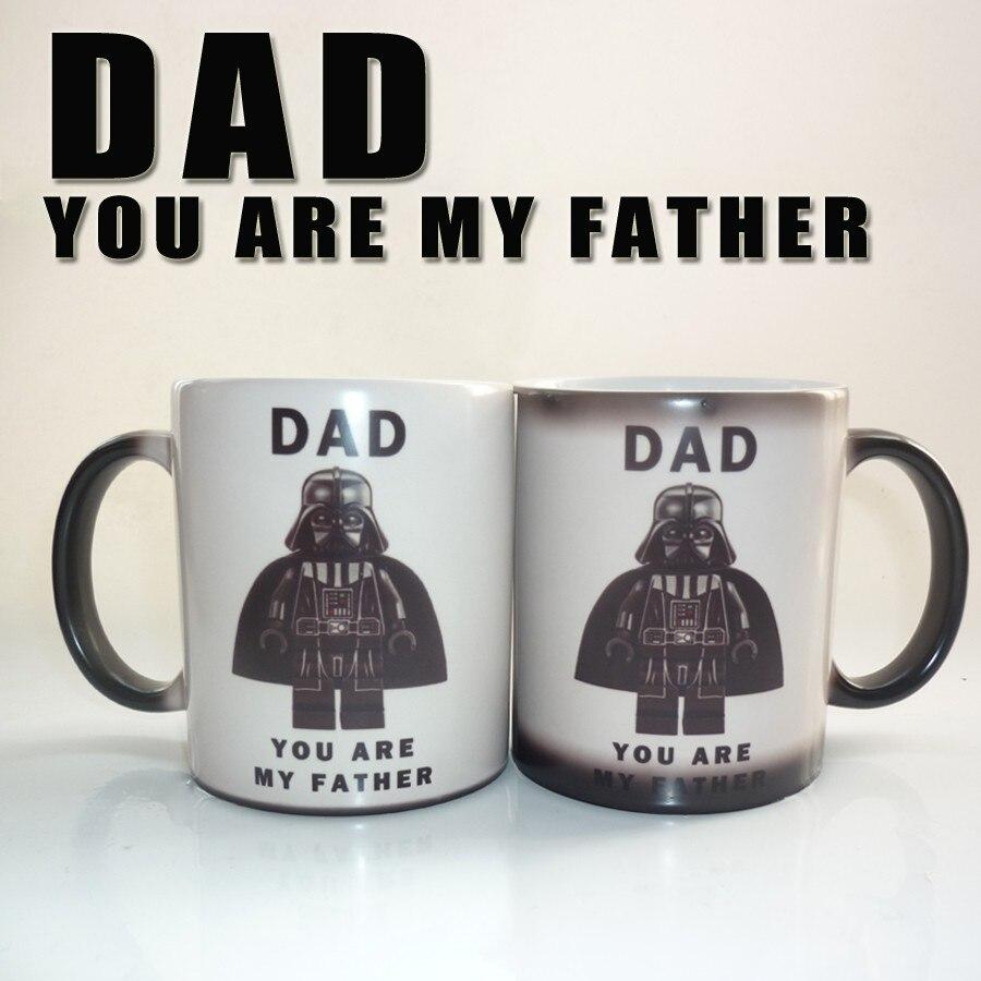 Mignon Star War-papa, vous êtes mon père changeant de couleur magique tasse café thé lait mugd tasse meilleur cadeau pour vous ou les enfants