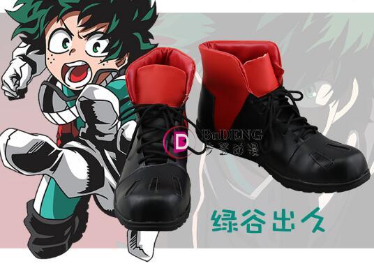 Anime pre-order My Hero Academia Boku no Hero Akademia Izuku Midoriya shoes male cosplay shoes