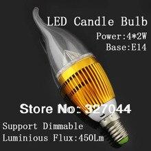 10 teile/los 3w 4w 5w 9w 12w led kerze licht e14 e27 led birne lampe rohre Warm Weiß Kühles Weiß 110v 220v led kerze