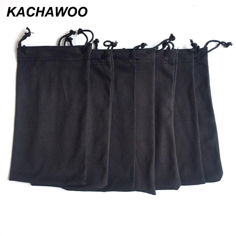 Kachawoo 100 шт солнцезащитные очки для чтения сумка для очков черный мягкий мешочек по индивидуальному заказу с собственным логотипом оптовая продажа