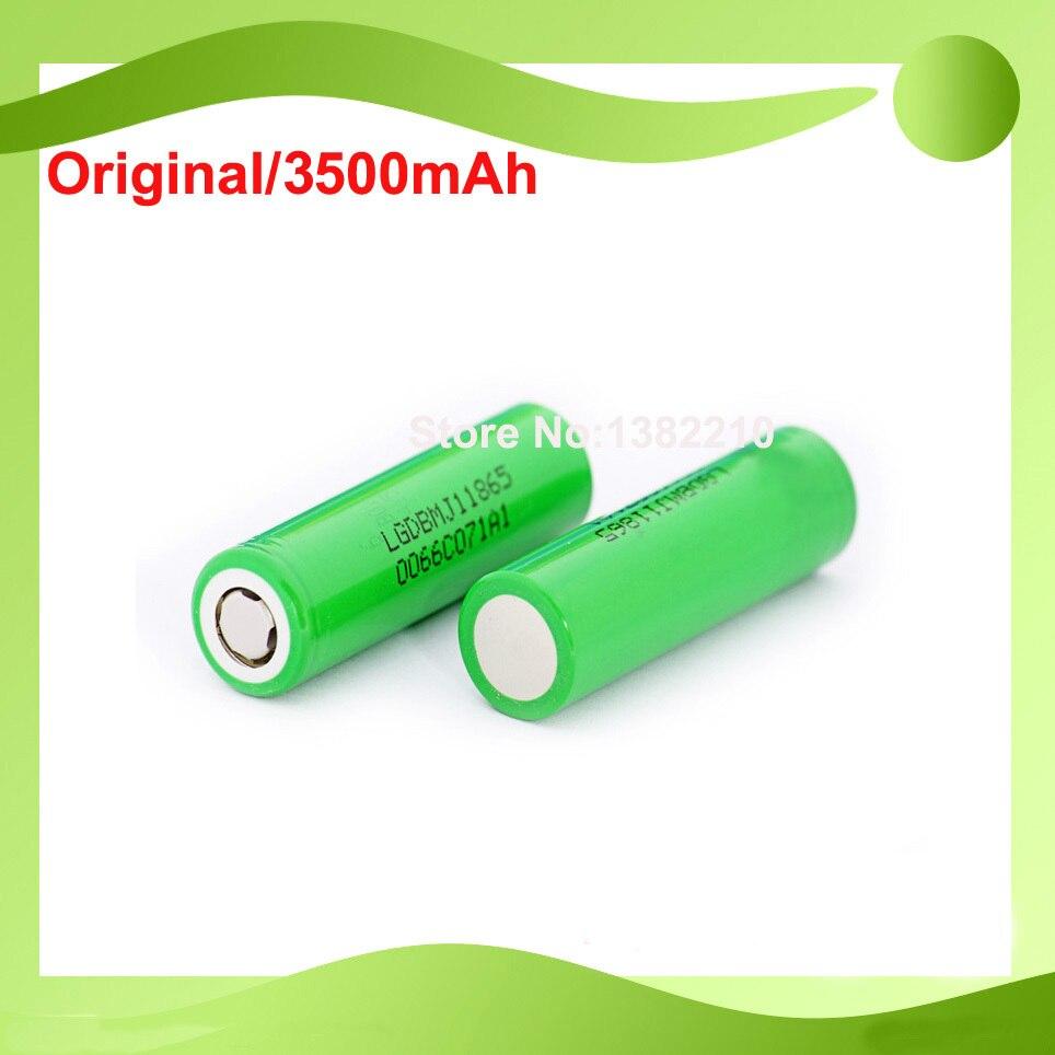 Бесплатная доставка! 6 шт./лот, непрерывная разрядная батарея 18650 3,6 В inr18650 MJ1 3500 мАч, 10 А для LG mj1