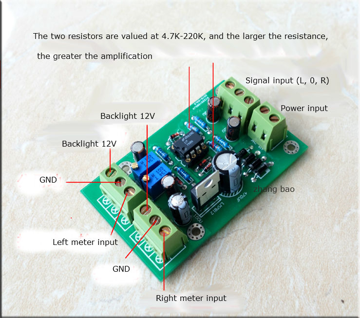 Free ship VU instrumentation drive circuit board Db meter driver board