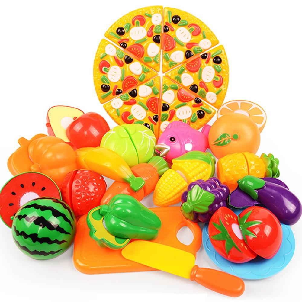 Bebé cocina DIY juego chico s cocina juguetes de plástico de alimentos de frutas niños chico juguetes educativos