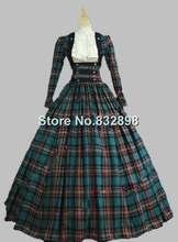 Victorien guerre civile 3 pc classique Tartan période robe robe de bal reconstitution théâtre vêtements