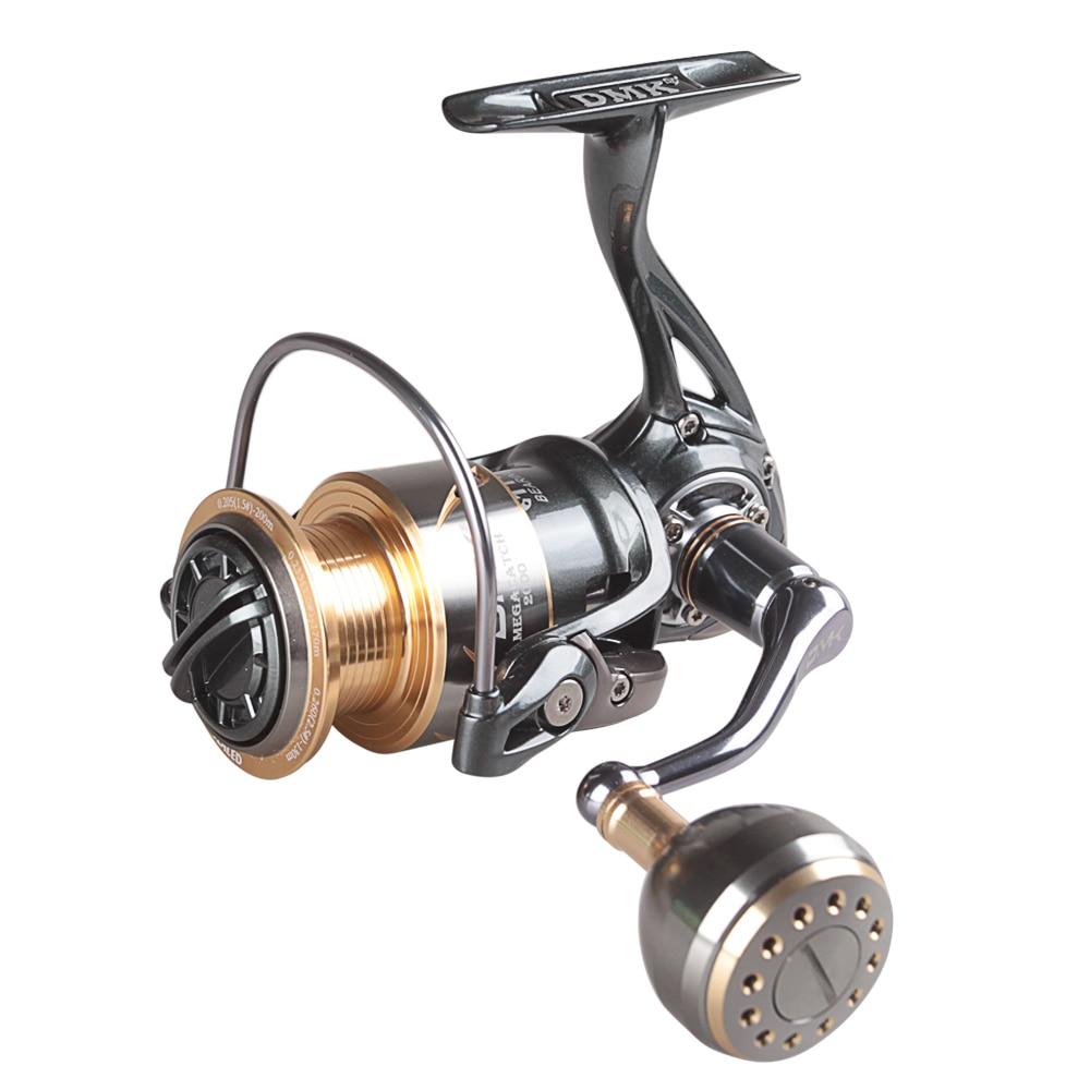DMK 800-5000 Size Full Metal Spinning Fishing Reel 5.2:1/9+1BB CNC Spinning Reel Moulinet Peche Carretel De Pesca Crap Reel enlarge