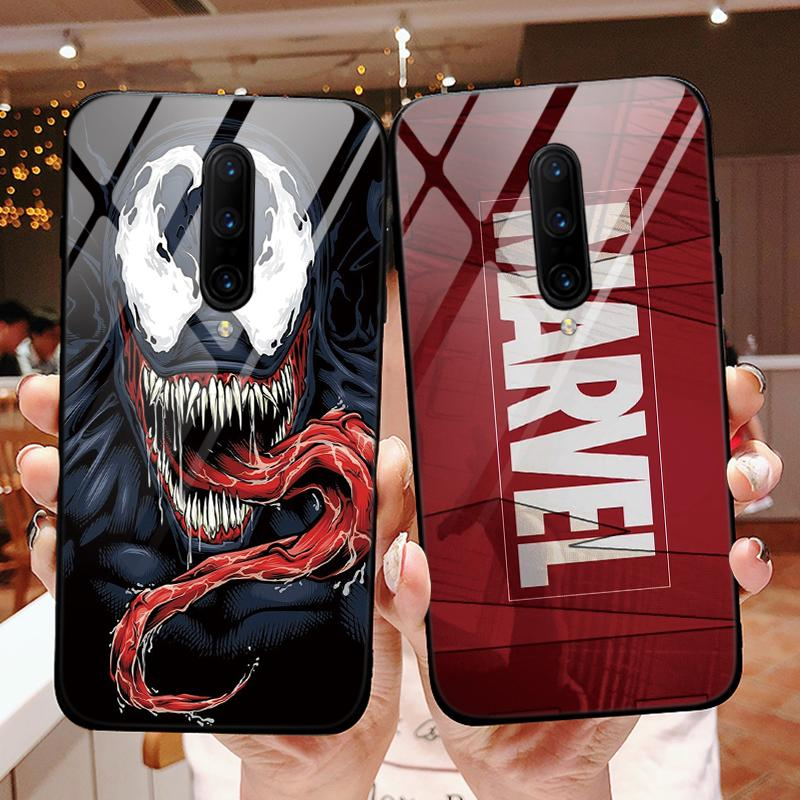 Funda de vidrio templado Marvel The Avengers para OnePlus 7 Pro 7Pro, funda moderna de lujo para OnePlus 6, funda, Capa, protección completa
