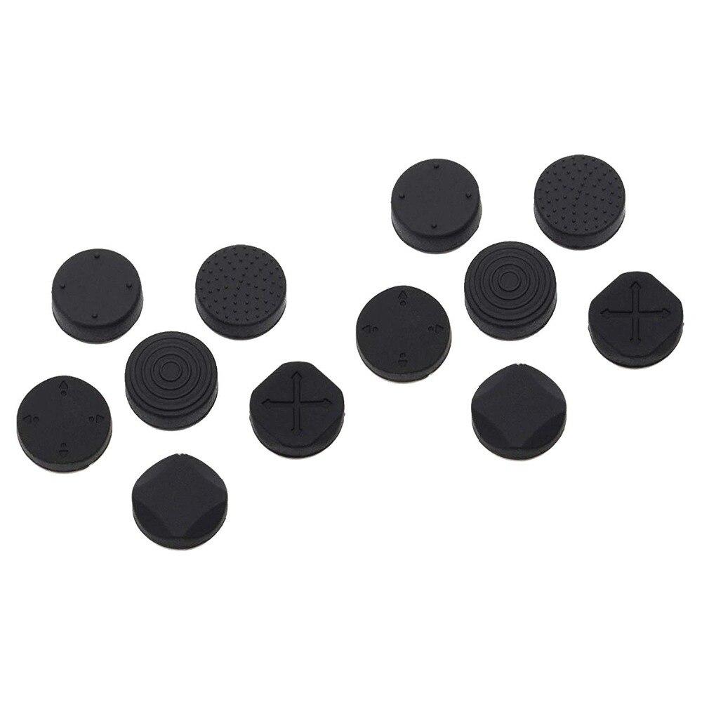 12 piezas de silicona analógico pulgar Stick Thumbstick puños Cap negro cubre PSV 1000 2000 PS Vita 2000 1000 PSV2000 PSV1000