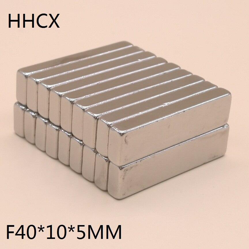 10 шт./лот магнит 40x10x5 мм N38 сильный квадратный неодимовый редкоземельный магнит 40*10*5 мм неодимовые магниты 40 мм x 10 мм x 5 мм