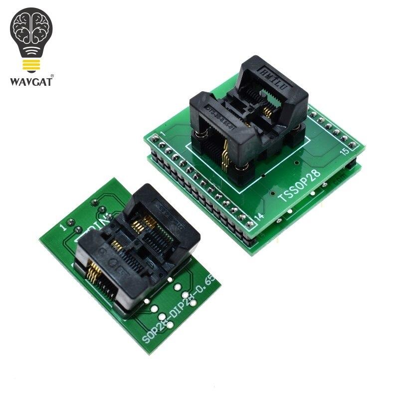 WAVGAT TSSOP8 к DIP28 адаптер TL866A TL866CS программатор адаптер SSOP8 к DIP28 IC тестовая розетка адаптер 0,65 мм шаг