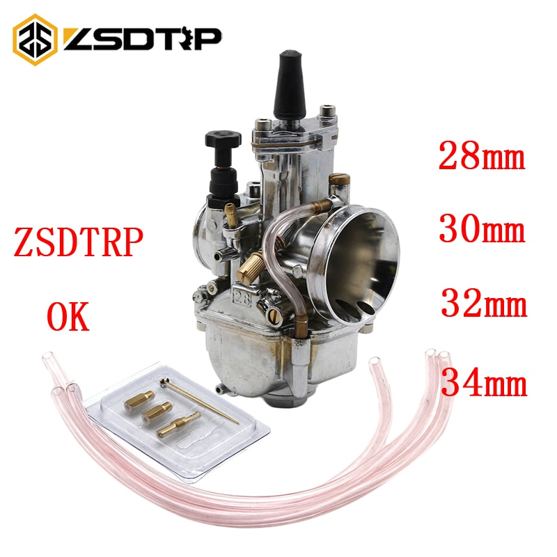 ZSDTRP OKO de 4 T golpe Universal 28 30 32 34mm clase Carburador de gris plata color con chorro de energía