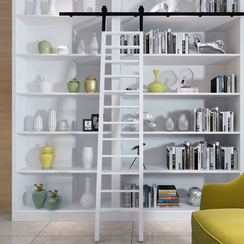 Kinmade-سلم منزلق ، معدات مكتبة ، أسود