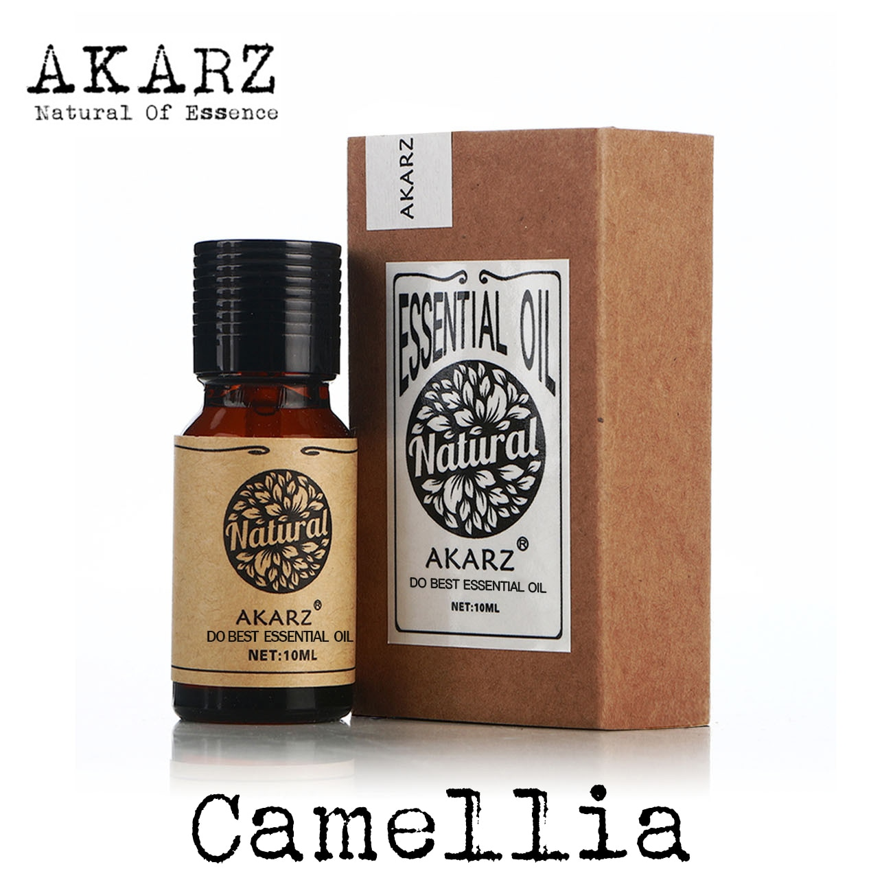 AKARZ Famous brand skin care camellia seeds oil beauty in eliminating stretch marks shiny skin benef